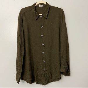 CP Shades Green Floral Tapestry Button Down Shirt